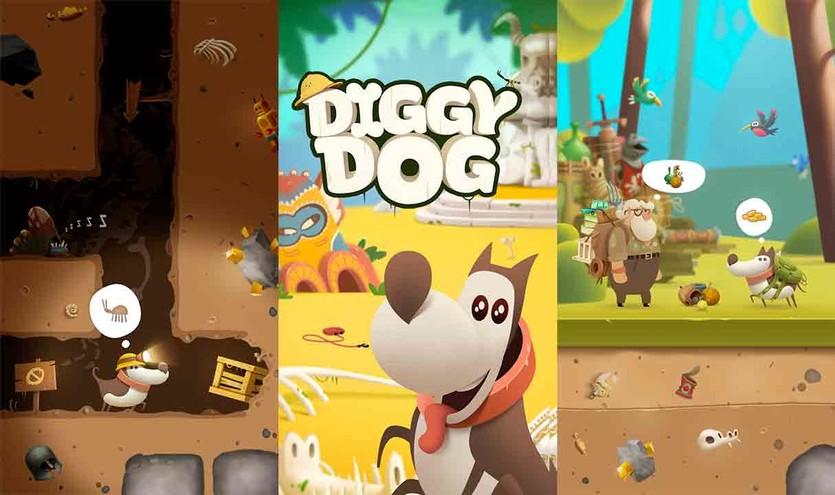 Геймплей игры My Diggy Dog
