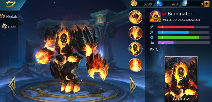 Heroes Evolved Burninator