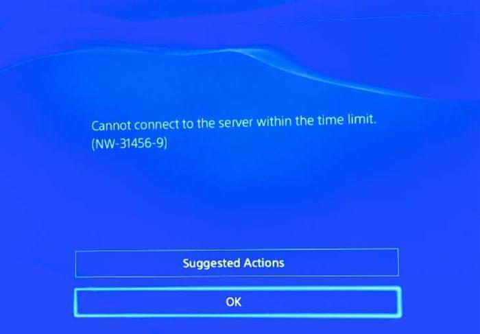 PS4 ошибка NW-31456-9