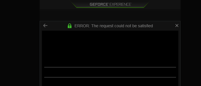 ERROR: The request could not be satisfied