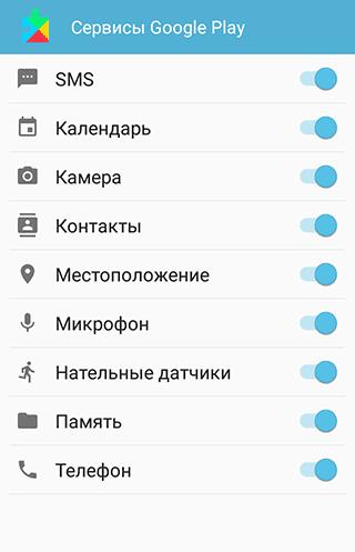 Google Play Service разрешения